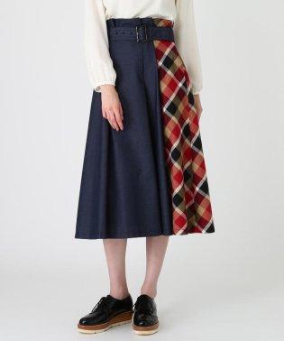 【オンラインストア限定】カラーデニムコンビスカート