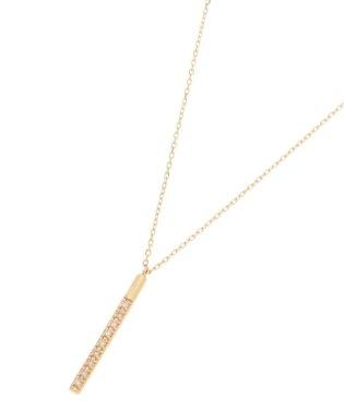 ダイヤモンド オーバルバー ネックレス