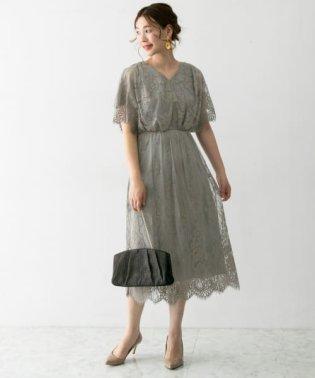 チュールレースドレス