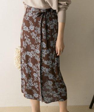 サラサフラワープリントタイトスカート
