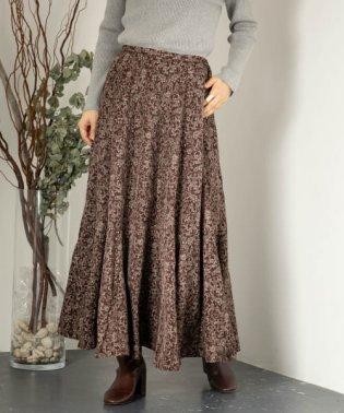 サラサペイズリープリントスカート