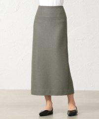 SUPER100'S ミルドパイルアクアジャージー ロングタイトスカート