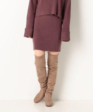 【setupにも】リブ編みタイトスカート