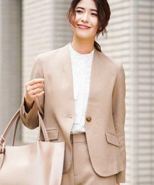 【セットアップアイテム/洗える】Vネックジャケット