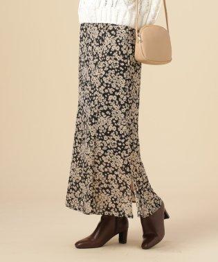 単色花マーメイドスカート