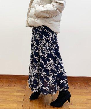 花柄パネル切り替えスカート