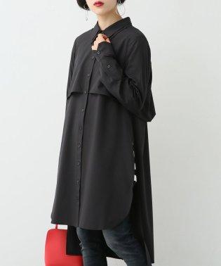 『kOhAKU立体デザインロングシャツ』