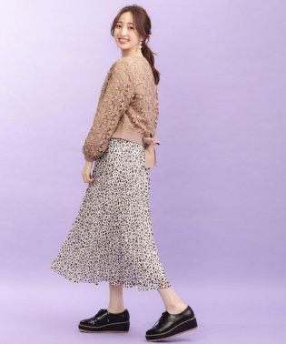 【限定】アニマルプリントプリーツスカート