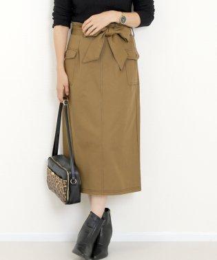 カツラギ&デニムリボン付スカート
