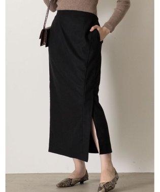 スタイリングを選ばない万能なルックスが魅力 ラップ風ロングタイトスカート スカート/スカート