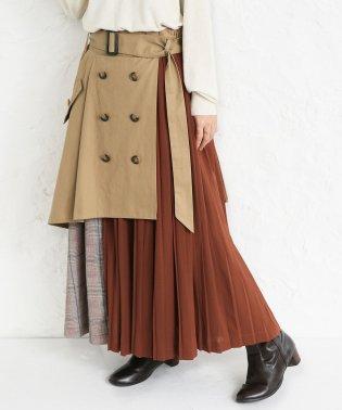 『somariトレンチデザインアシメプリーツスカート』