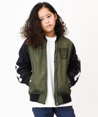 袖キルティング中綿MA-1ジャケット