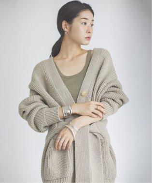 《予約》【JANE SMITH/ジェーンスミス】 MIX PATERN BELT カーディガン◆