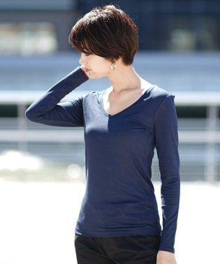 【Gウォーマー】VネックロングスリーブTシャツ/超保温力/機能系インナー/G‐WARMER