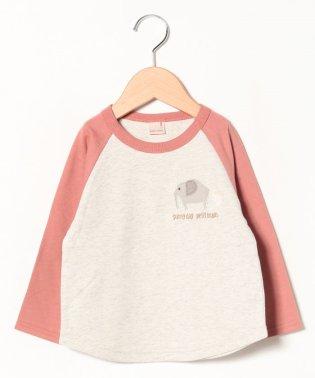 ミニ裏毛 アニマルアップリケ ラグランTシャツ