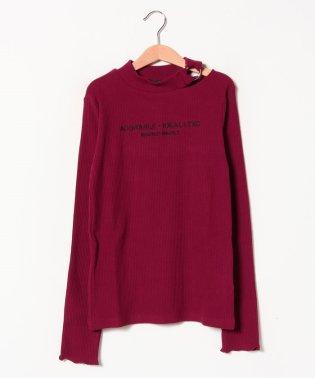 衿リングスリットリブTシャツ