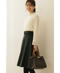 ◆サッシュカラーフレアースカート