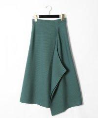 ウールアシメニットスカート