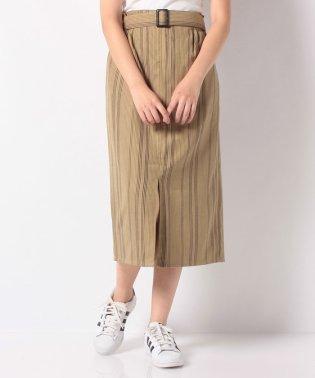 TRストライプベルト付スカート
