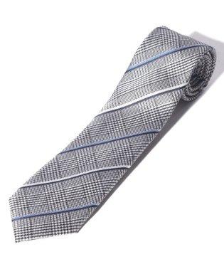 ベネトンバイアスチェック柄ネクタイ(シルク製)