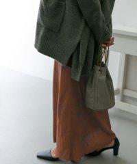 ドローイングフラワープリントロングスカート