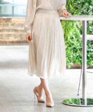 【XSサイズ~】【WEB限定】【Tricolore】【ウォッシャブル】スウェードタッチサテンスカート