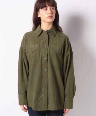 コットンビッグポケットオーバーサイズシャツ・ブラウス
