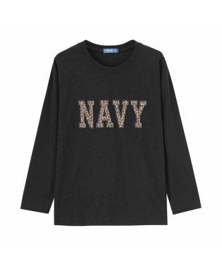 Navy ネイビー ボーイズ ワッペンロングスリーブTシャツ EJ195-KB103
