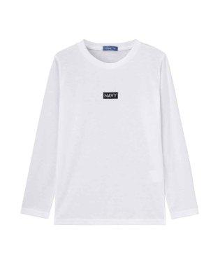 Navy ネイビー ボーイズ ボックスロゴロングスリーブTシャツ EJ195-KB104