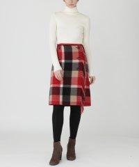 クレストブリッジチェックブランケット ラップスカート