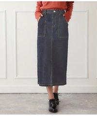 フロントスリットポケットデザインタイトスカート