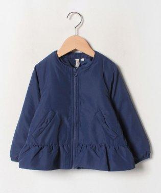 ノーカラー裾フリルジャケット