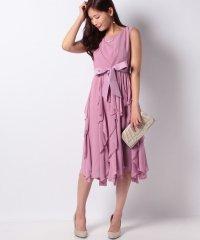 ラッフルスカートドレス