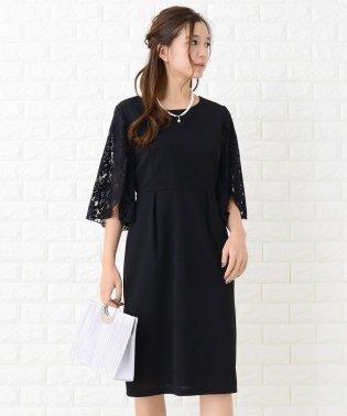 【選べる袖 3タイプ】膝丈 美ラインワンピース・ドレス