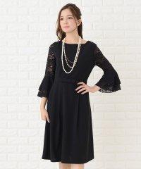 フレア袖切り替えシンプルワンピース・ドレス