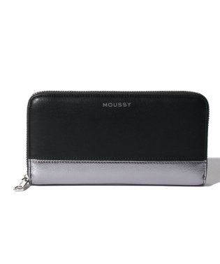 【MOUSSY】 SHINY ROUND WALLET