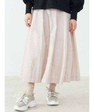 タフタフレアロングスカート