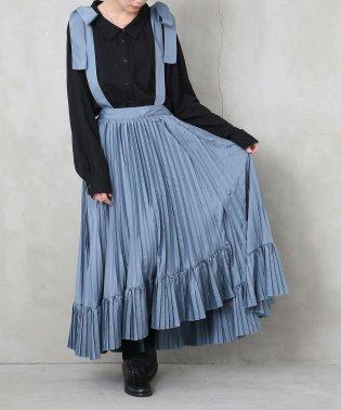 『somariリボンサス付きアシメデザインプリーツスカート』