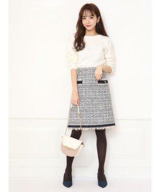 【美人百花/andGIRL12月号掲載】フリンジツイード台形スカート