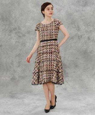 《M Maglie le cassetto》ファンシーツイードドレス