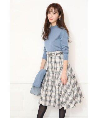 【美人百花12月号掲載】チェックツイードフレアスカート