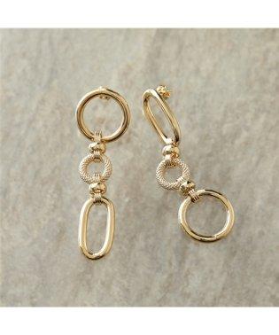 LD CHA 4 Charlotte シャーロット Asymetric earrings アシンメトリー ピアス ゴールド レディース