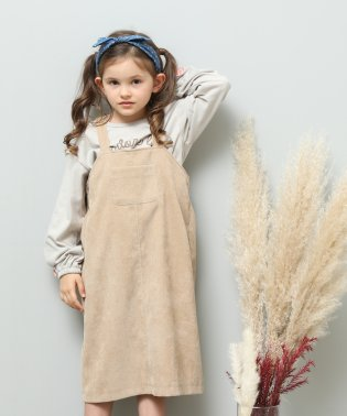 【ROPE' PICNIC KIDS】コーデュロイジャンパースカート