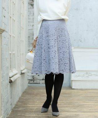 ★[堀田茜さん着用]モールレースフレアースカート