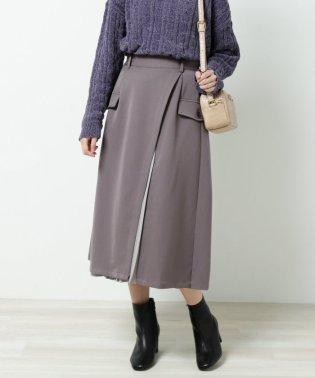 プリーツ切替スカート