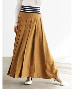 ウエストボーダー切替スカート
