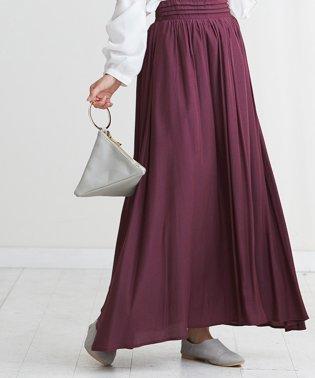 ベルトタックギャザースカート