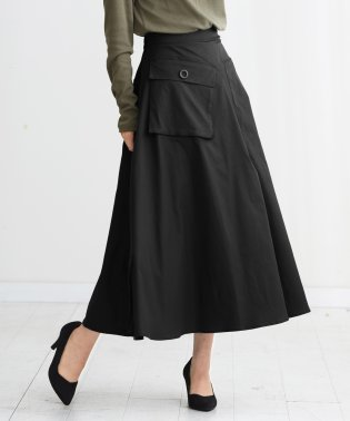 デザインポケットフレアスカート