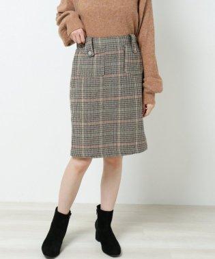 チェック柄台形スカート