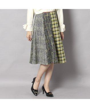 パッチワークフレアスカート